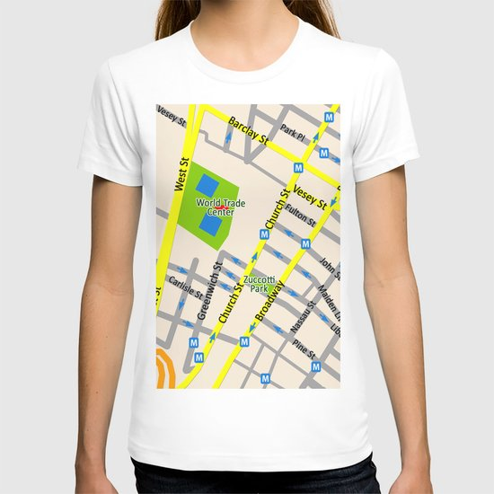 NEW YORK map design T-shirt