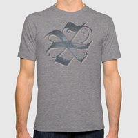 Letter X Mens Fitted Tee Tri-Grey SMALL