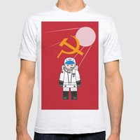 SOVIET Mens Fitted Tee Ash Grey SMALL