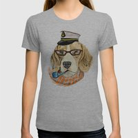 Mr.Beagle Womens Fitted Tee Athletic Grey SMALL