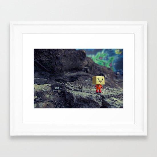 i like it here Framed Art Print