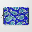 Blue Paisley Laptop Sleeve