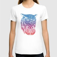 Owl Of Color Womens Fitted Tee White SMALL