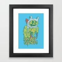 Zombie Finn Framed Art Print