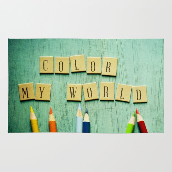 Color My World Area & Throw Rug