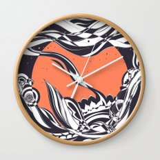 Ink sunset Wall Clock