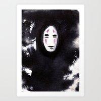No Face Art Print