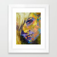 Secrecy Kristina Framed Art Print