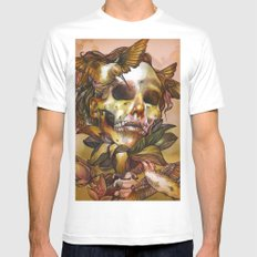 Queen of Enlightenment  MEDIUM White Mens Fitted Tee