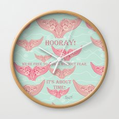 FINALLY! Whales are free from persecution! Wall Clock
