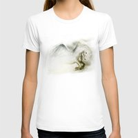 Pegasus Womens Fitted Tee White SMALL