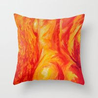 Abstract body Throw Pillow