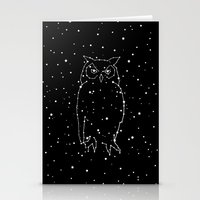 Owl Constellation  Stationery Cards