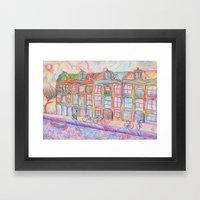 Wandering Amsterdam - Colored Pencil Framed Art Print