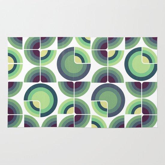 Green Fields Pattern Area & Throw Rug