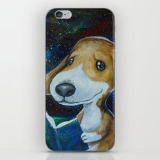 Dog Reading iPhone & iPod Skin