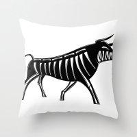 XRAY Bull Throw Pillow
