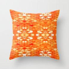 Flamingo land flip repeat, new colourway Throw Pillow