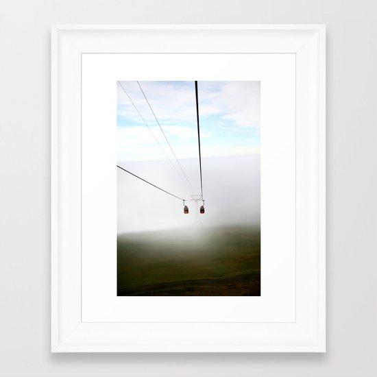 Mountain tops Framed Art Print