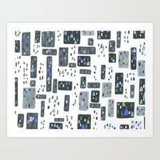 Cityscape, Stained Glass Intervention Art Print