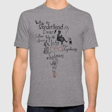 Wonderland Mens Fitted Tee Athletic Grey SMALL