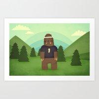sasquatch  Art Print