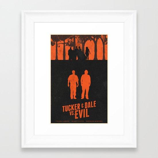Tucker & Dale VS. Evil Framed Art Print