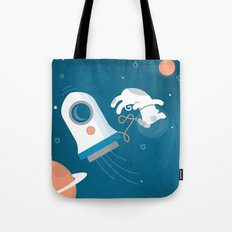 Darwin the Diddy Dog Diving into Deep Space Tote Bag