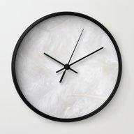 White Feathers From Heav… Wall Clock