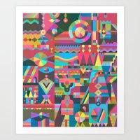 Schema 17 Art Print