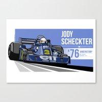 Jody Scheckter - 1976 An… Canvas Print