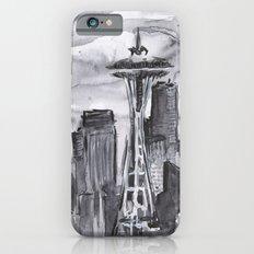 Seattle Skyline Watercolor Space Needle iPhone 6s Slim Case