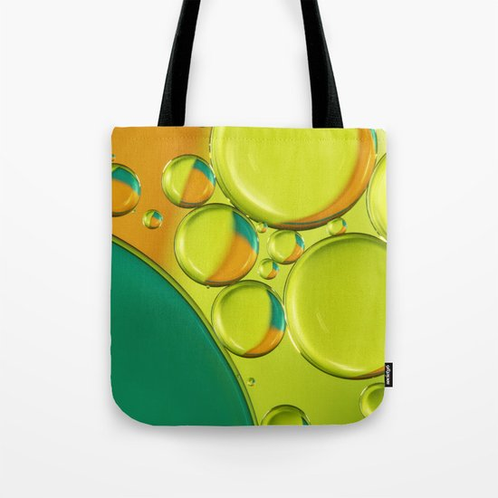 Bubble Abstract with a Twist of Lime Tote Bag