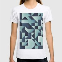 :: Geometric Maze V :: Womens Fitted Tee Ash Grey SMALL