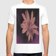 Psychedelic Flower White Mens Fitted Tee SMALL