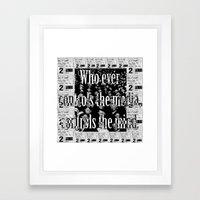 Media controls mind Framed Art Print