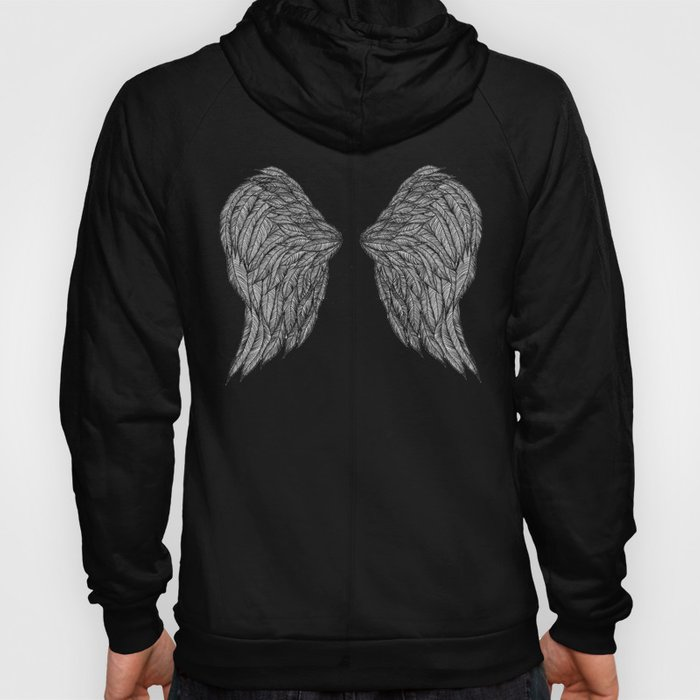 Wings back black hoody
