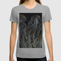 Magic Mushrooms Womens Fitted Tee Athletic Grey SMALL