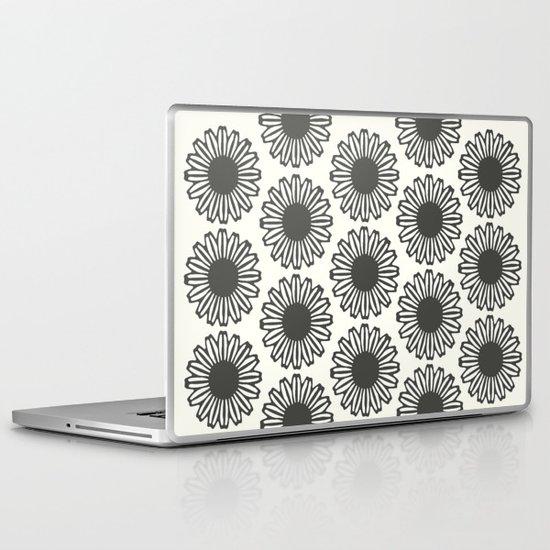 Vintage Flower_Black Laptop & iPad Skin
