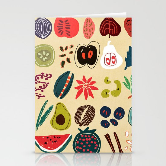 Fruit and Spice Rack Stationery Card