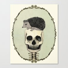 Yojik On A Skull Canvas Print