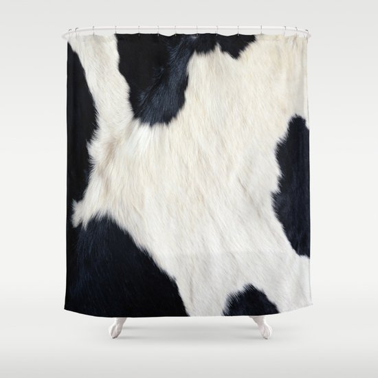 Cowhide Black and White Shower Curtain by Gypsykissphotography ...