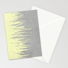 Concrete Fringe Yellow Stationery Cards