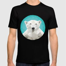 ♥ SAVE THE POLAR BEARS ♥ Mens Fitted Tee Black SMALL