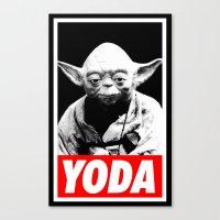 Obey Yoda (yoda Text Ver… Canvas Print