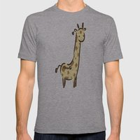 Girafffeee Mens Fitted Tee Athletic Grey SMALL