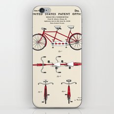 Tandem Bicycle Patent iPhone & iPod Skin