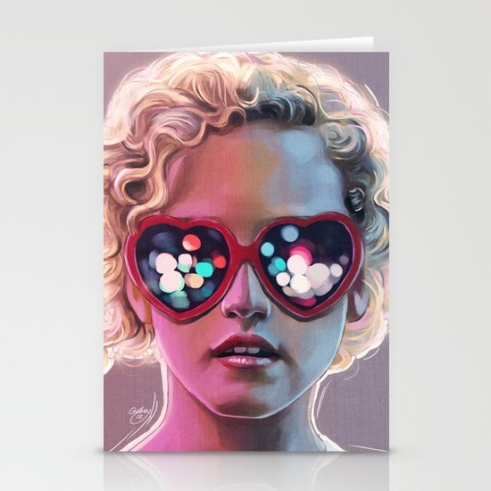 Electrick Girl Stationery Card