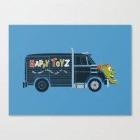 The Happy Toyz Van Canvas Print