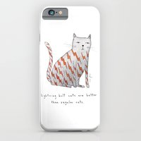 iPhone Cases featuring lightning bolt cats are better by Marc Johns